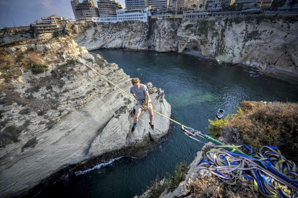 Taking slacklining to new heights in Beirut